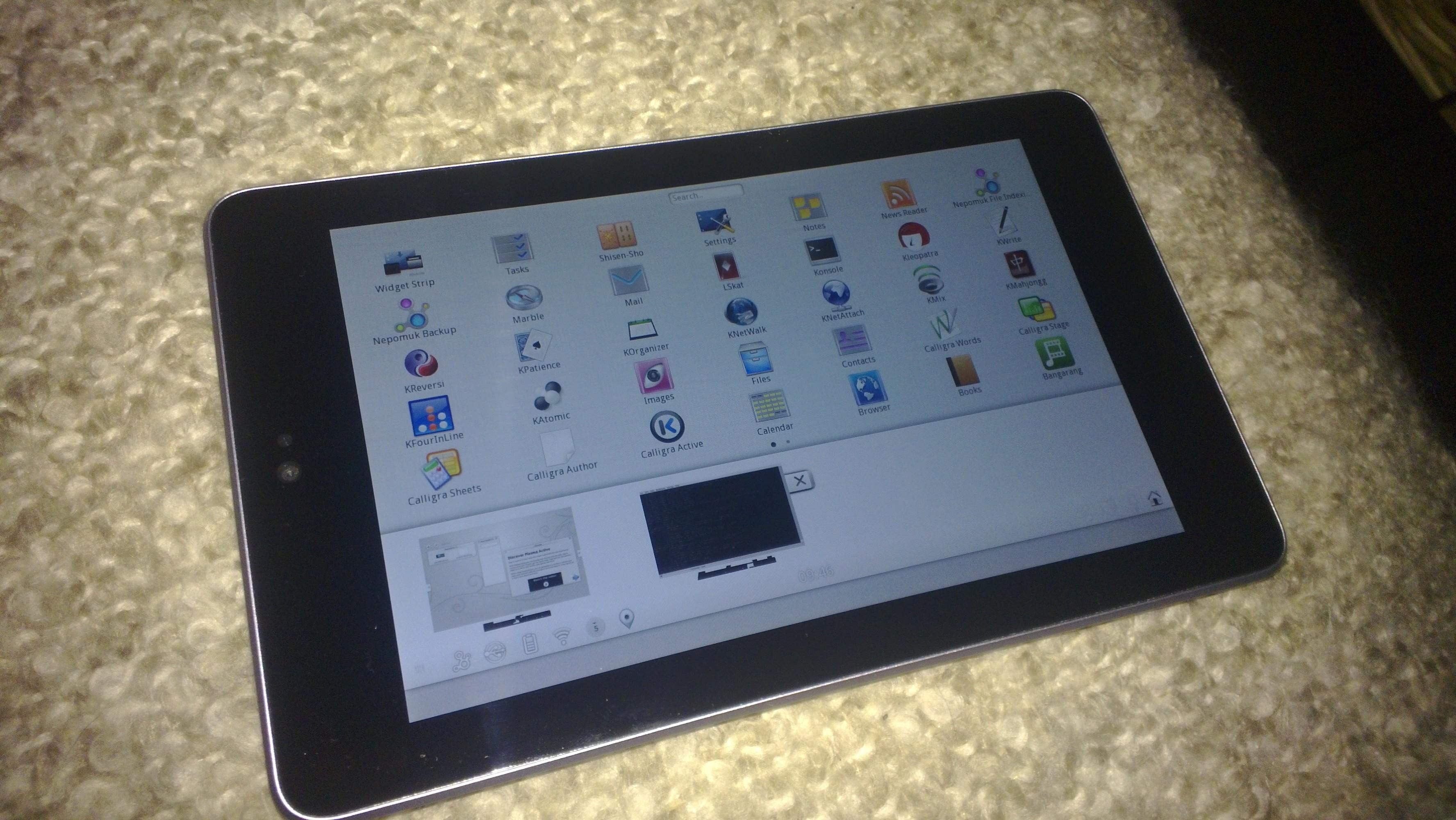 Plasma Active For Nexus 7 Running The Touch Optimized Plasma Active Linux Distribution On Nexus 7 Ruedigergad
